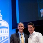Anthony Salcito and Arne Duncan, U.S. Education Secretary