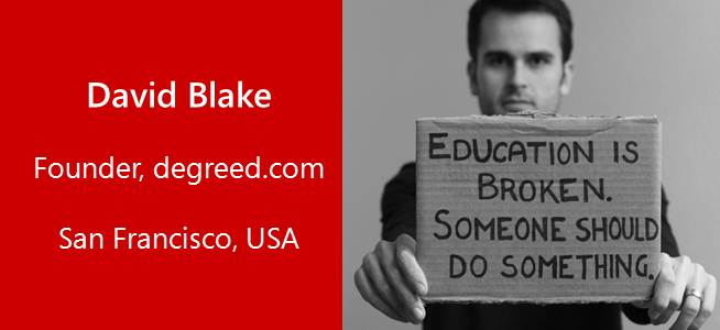 David Blake, Entrepreneur, degreed.com - USA