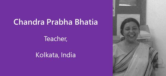 Chandra Prabha Bhatia, Teacher - India