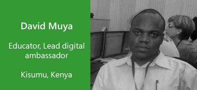 David Muya, Educator, Digital Ambassador, Kenya
