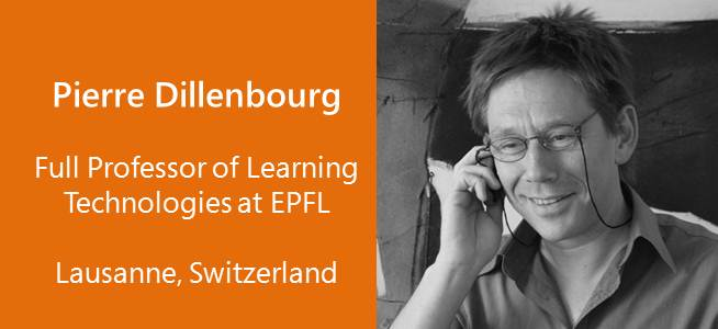 Pierre Dillenbourg, Full Professor of Learning Technologies at EPFL - Switzerland