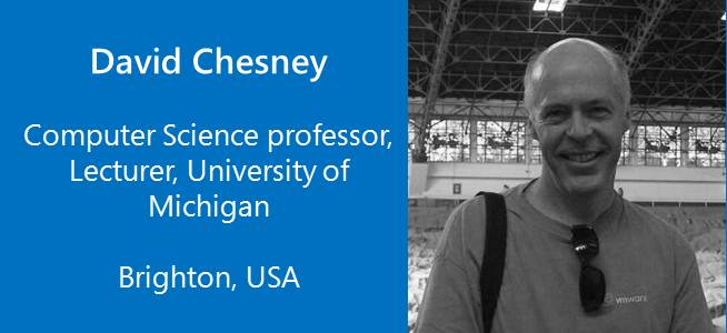 David Chesney, Computer Science Professor, Lecturer - USA