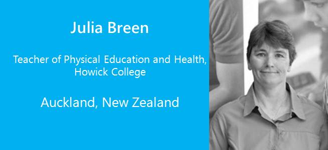 Julia Breen, Teacher of Physical Education and Health - New Zealand