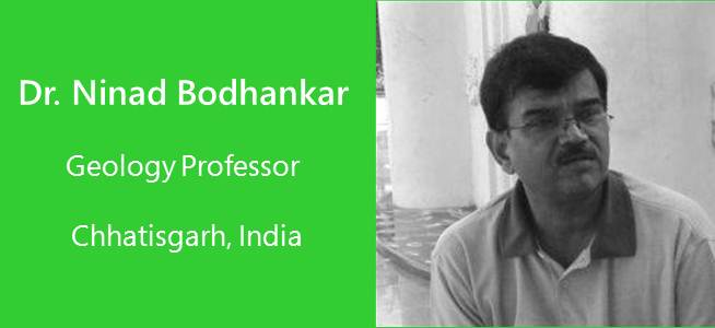 Ninad Bodhankar, Geology professor - India