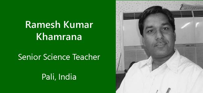 Ramesh Khamrana, Senior Teacher Science - India