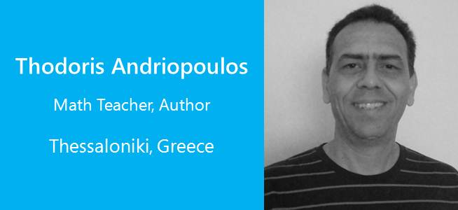 Thodoris Andriopoulos, Math teacher, Author - Greece