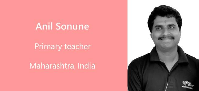 Anil Sonune, Primary Teacher - India