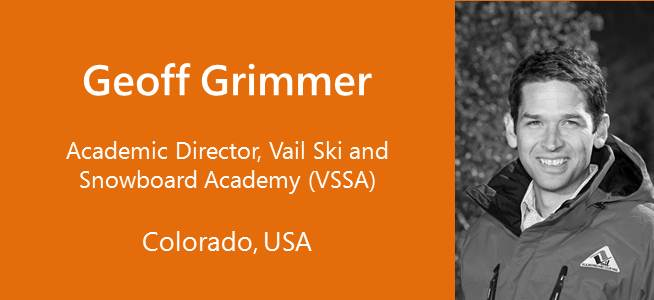 Geoff Grimmer, Academic Director, Vail Ski and Snowboard Academy (VSSA) - USA