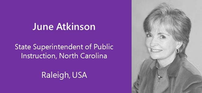 June Atkinson, State Superintendent of Public Instruction North Carolina - USA