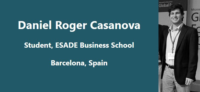 """In my honest opinion, education is not tied strongly enough to reality."" – Dani Casanova, Spain"