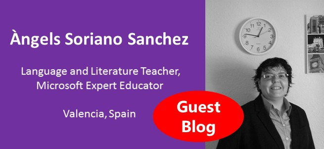 """""""I invite you to apply to be Microsoft Innovative Educator Expert, it starts your own learning adventure, offering opportunities for personal growth, which no doubt will have an impact on your students and your nearest community; without realizing it, you're also helping to build global education: all ideas matter."""" – Àngels Soriano Sanchez, Spain"""