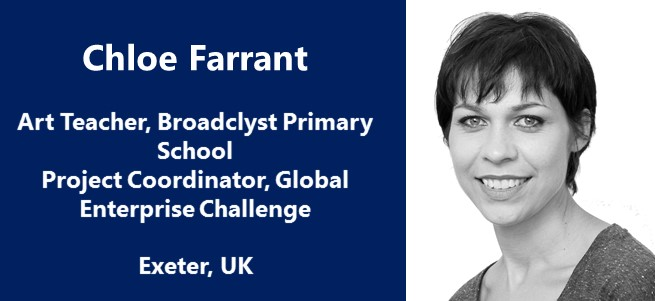 """""""As an educator, my biggest hope is to nurture and develop today's children, our future, into sympathetic, respectful and responsible citizens."""" – Chloe Farrant, UK"""