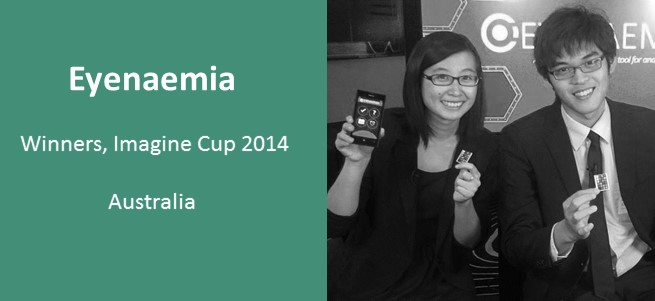 """""""At the start of Imagine Cup, we were talking to each other saying, 'There is no way we'll get to the finals because there is so much amazing stuff out there.' Clearly we've been proven wrong."""" – Team Eyenaemia, Imagine Cup 2014 Winners, Australia"""