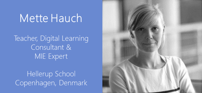 """""""Letting go of our control as teachers sometimes can lead to better learning."""" – Mette Hauch, Denmark"""