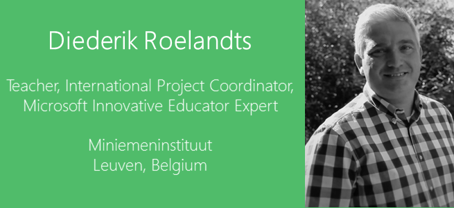 """Strictly speaking, my pupils don't really need to come to class anymore…As a matter of fact, two of my pupils will be studying abroad (one pupil in Dublin and one in Berlin) without missing any of my course."" – Diederik Roelandts, Belgium"