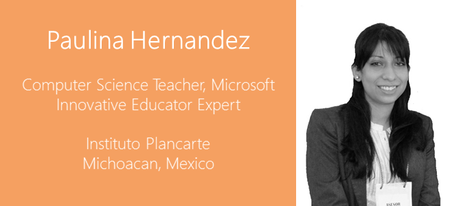 """I think teacher training and teacher selection would make a huge change in the quality education students receive in México. Without having a passion for teaching, how are students going to have a passion for learning?"" – Paulina Hernandez, Mexico"