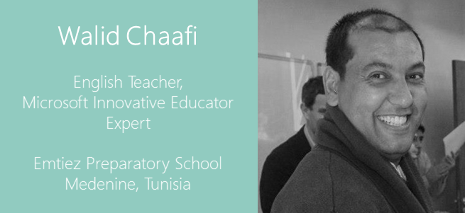 """My biggest hope for today's students is that one day they will see us as pioneers who led them to the right path, which they will continue and do the same for others."" – Walid Chaafi, Tunisia"
