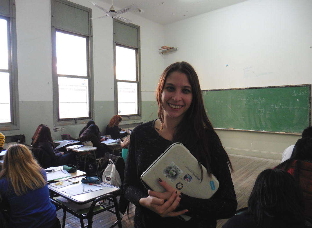 """I think we teachers must start making things change in our classrooms. And this desire and enthusiasm to enhance our students' learning processes must be contagious."" – Melina Ignazzi, Argentina"